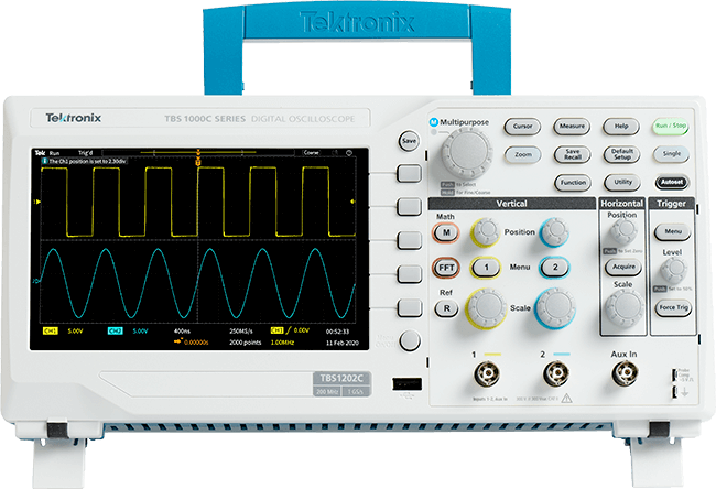 The TBS1000C Series Digital Storage Oscilloscope offers affordable performance in a compact design