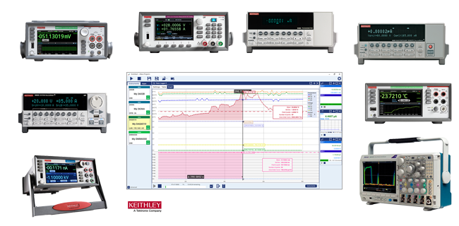 KickStart Instrument Control Software for Keithley bench instruments and Tektronix oscilloscopes